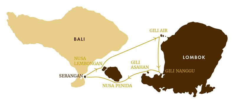 Carte Bali Serangan.Croisiere Bali Lombok Dream Croisiere A La Cabine Location